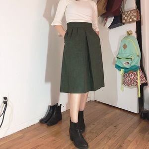 VINTAGE 100% Wool A-lined Skirt